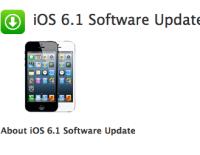 iOS 6.1 für das Apple iPad nun verfügbar