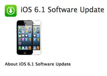 Apple aktualisiert iOS auf 6.1