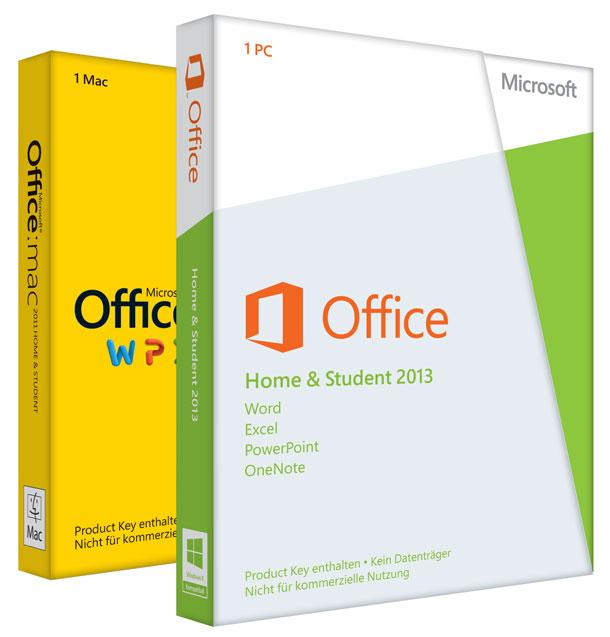 Packshots der deutschen Office 365 Boxen: PC und MacPackshots der deutschen Office 365 Boxen: PC und Mac