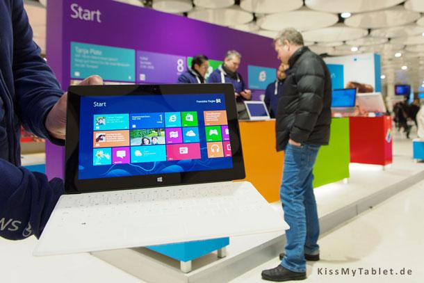 Das Surface von Microsoft auf der CeBit 2013Das Surface von Microsoft auf der CeBit 2013