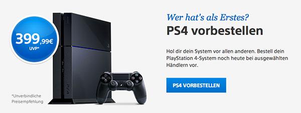 Jetzt PlayStation 4 - Konsole vorbestellen bei Amazon.