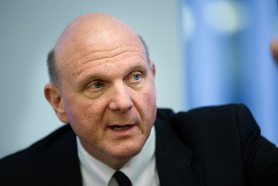 Microsoft-CEO Steve Ballmer: Kevin Hagen for The Wall Street Journal