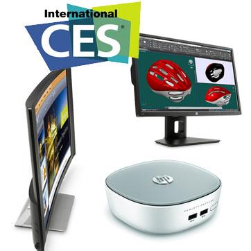 CES 2015: HP bringt Mini-Desktop-PC und Monitore mit Ultra-HD-Auflösung und Curved-Design