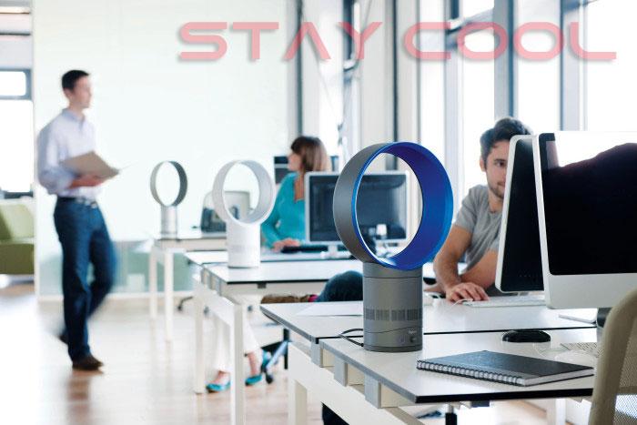 Kühle Brise am Arbeitsplatz mit dem rotorlosen Air Multiplier AM06 von Dyson