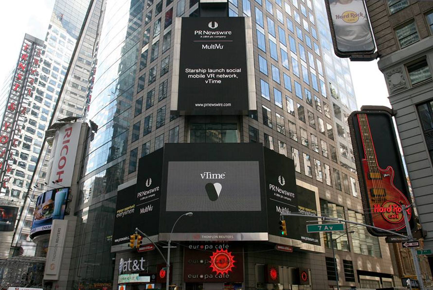 vTime auf dem Time Square