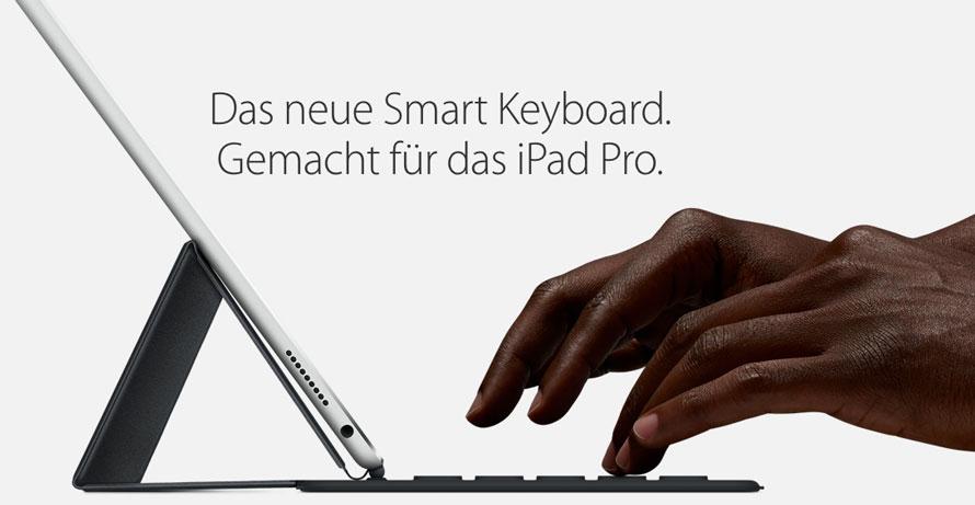 Smart Keyboard für das iPad Pro