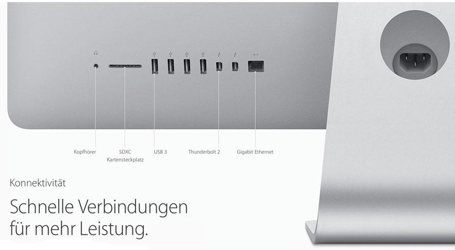 Die Anschlüsse des iMac