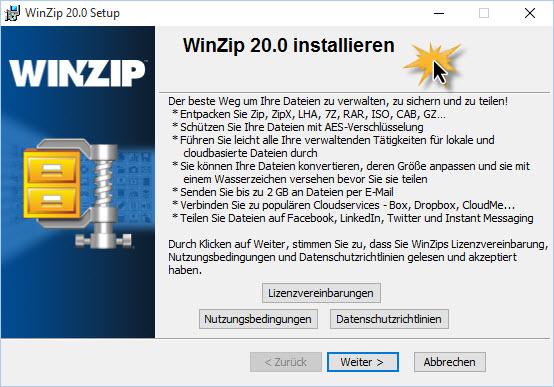 WinZip Install