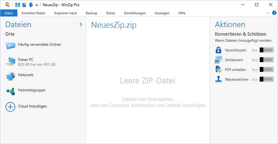 WinZip 20 Start